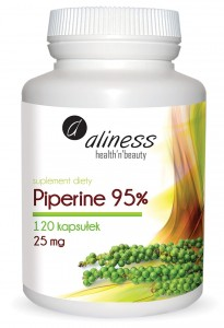 Aliness Piperine Forte 95 % 120 kaps 25mg Piperyna